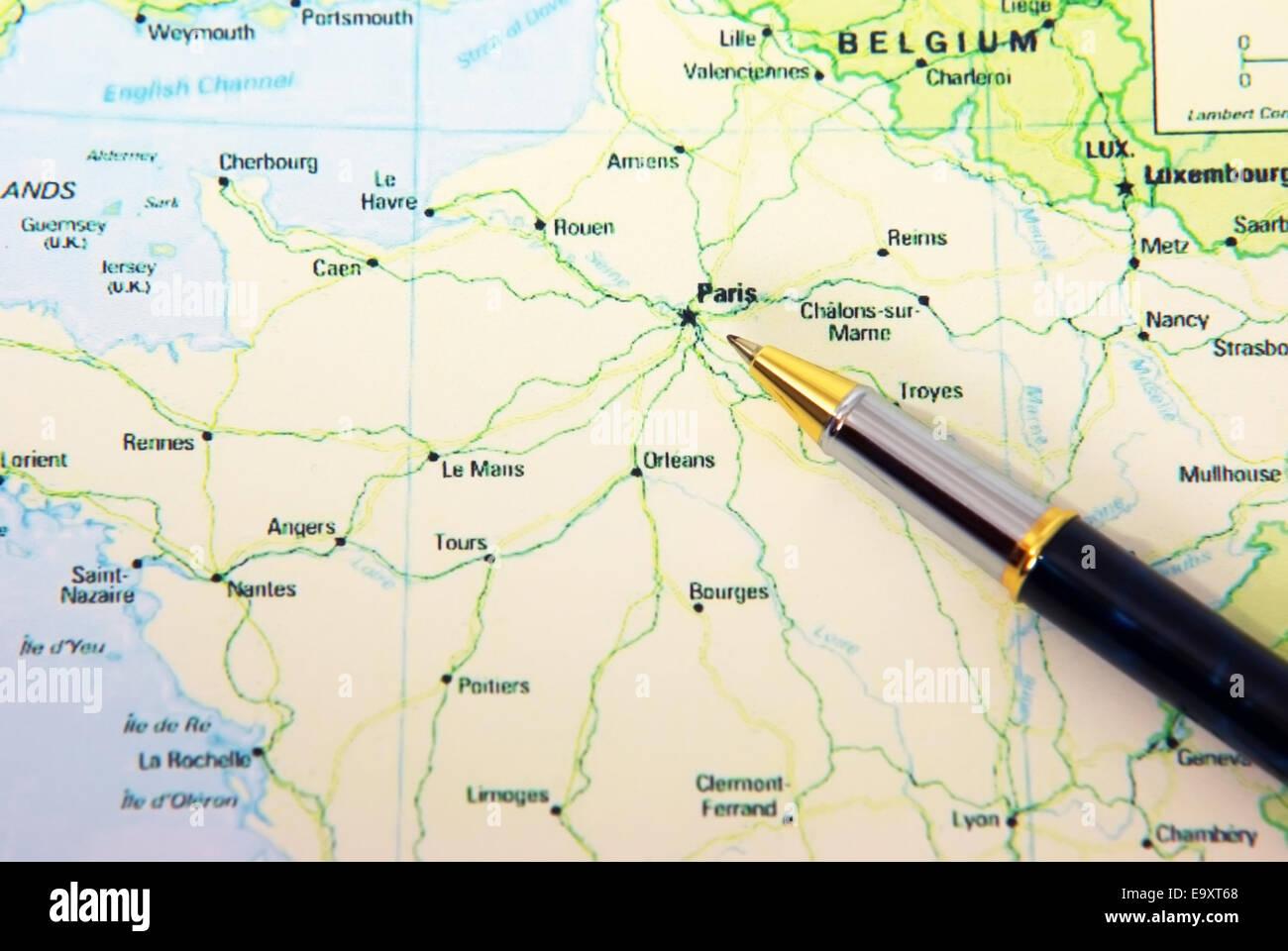 Advertisement marne river france map Full