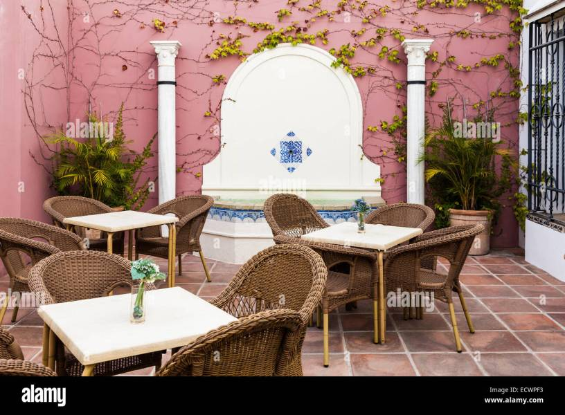 Cordoba  Andalusia Region  Spain  An old patio interior Stock Photo     Cordoba  Andalusia Region  Spain  An old patio interior