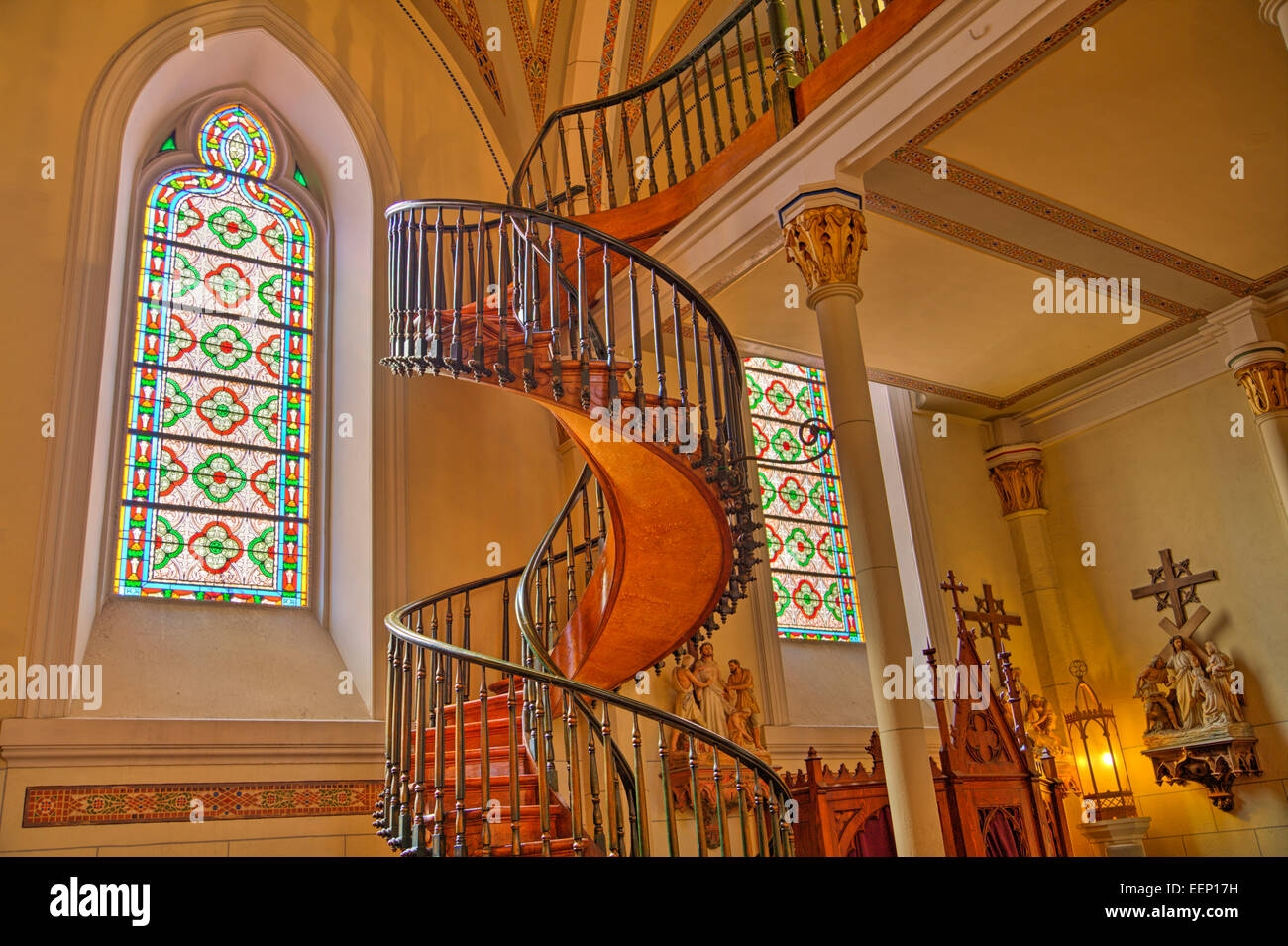 Loretto Chapel Staircase High Resolution Stock Photography And   Stairway Of Loretto Chapel   Original   Sister   Story   Spiral   Mysterious