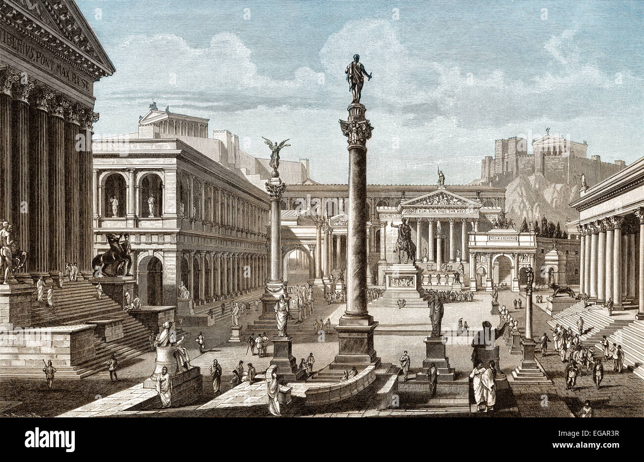Reconstruction of the Roman Forum or Forum Romanum in ...