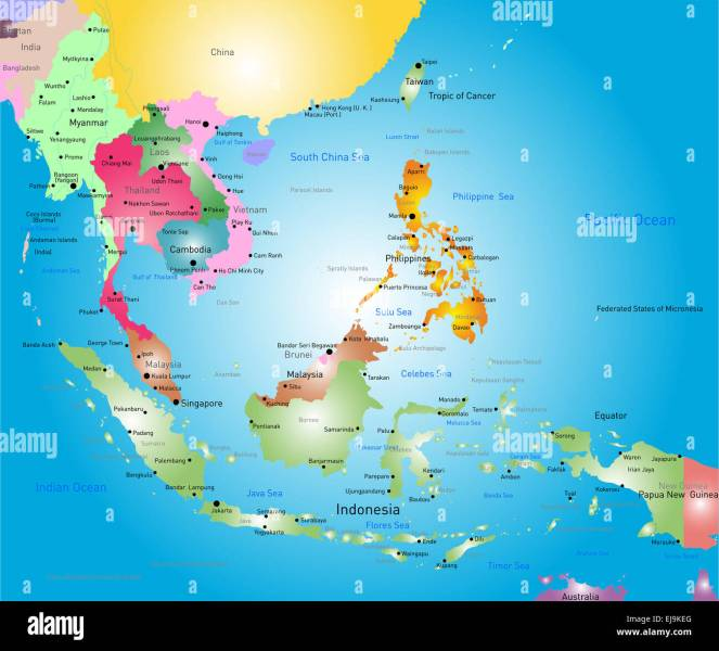 southeast asia map Stock Photo  80118152   Alamy southeast asia map