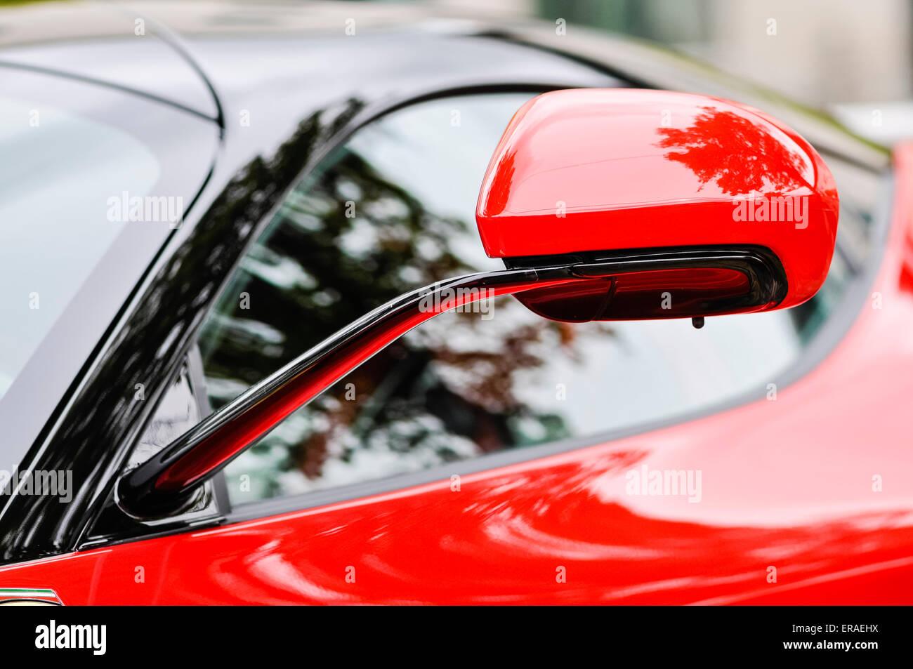 Door mirror on a Ferrari LaFerrari (F150) hybrid supercar ...