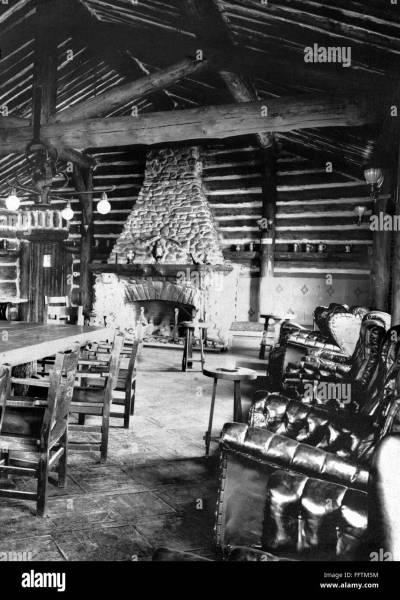 ALASKA  LOG CABIN   nThe interior of The Log Cabin Club in Nome      nThe interior of The Log Cabin Club in Nome  Alaska  Photograph   c1900 1923