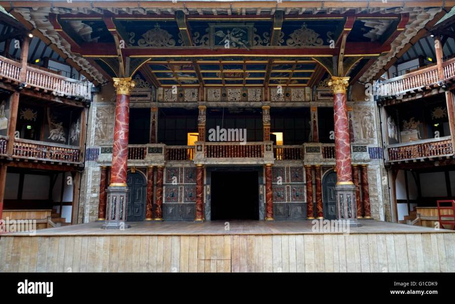 Interior of the Globe Theatre London  associated with William Stock     Interior of the Globe Theatre London  associated with William Shakespeare   Built in 16th Century by Shakespeare s playing company  the Lord  Chamberlain s