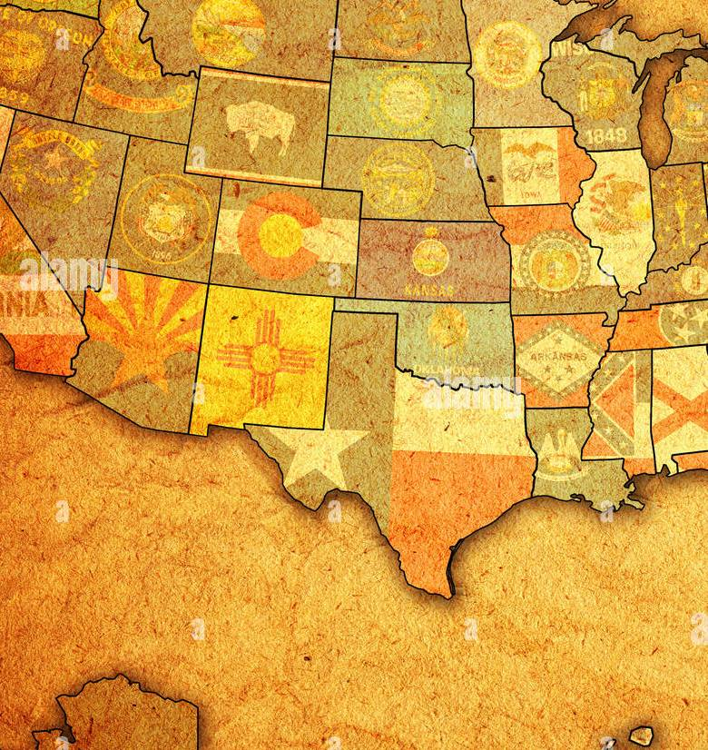 HD Decor Images » Virginia State Political Map Stock Photos   Virginia State Political     virginia on old vintage map of usa with state borders   Stock Image