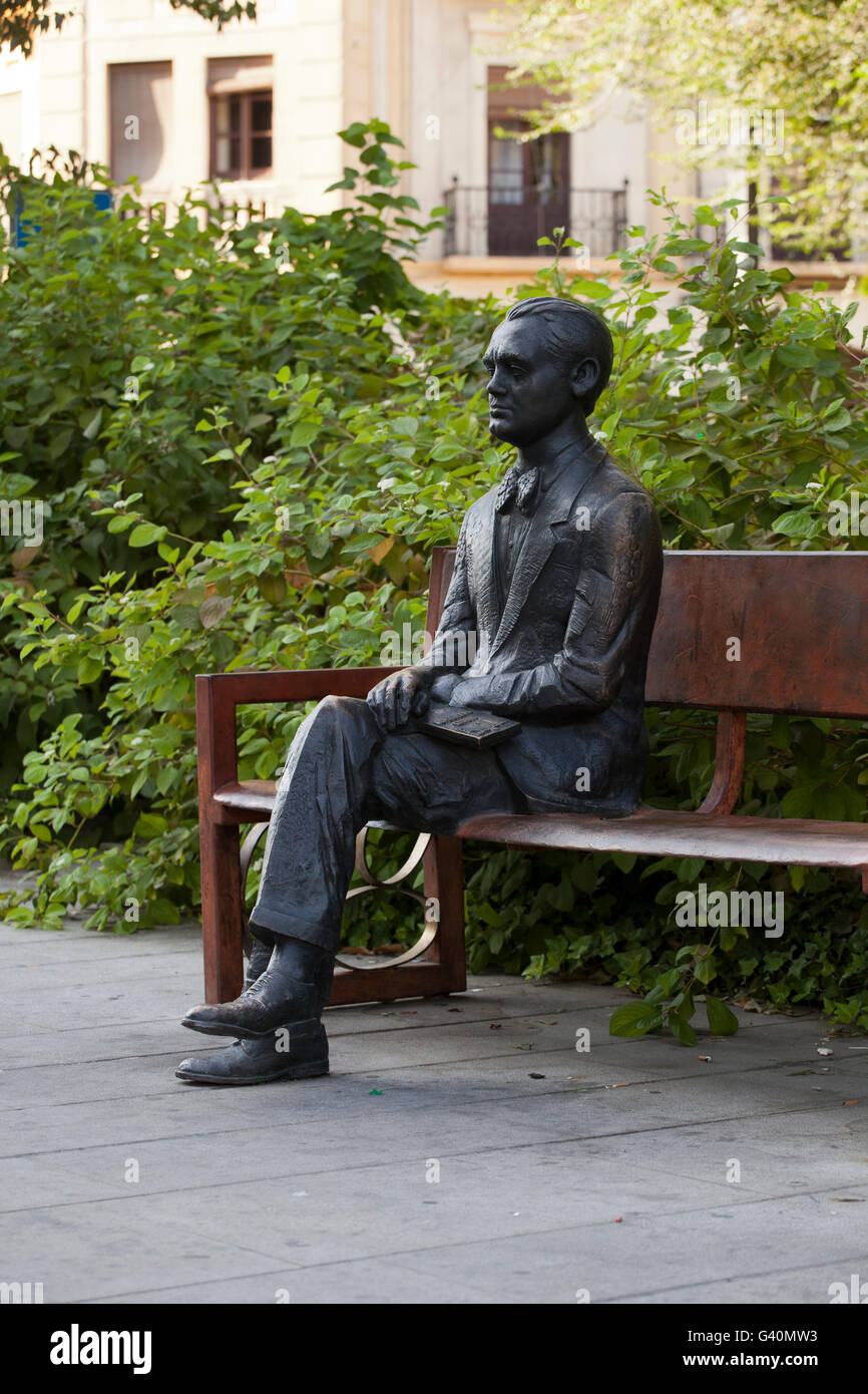 Statue Of Federico Garcia Lorca Avenida De La