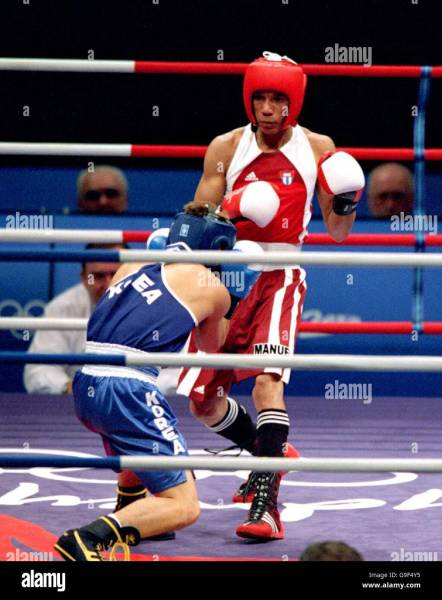 Sydney 2000 Olympic Games   Boxing   51kg   First Round Stock Photo     Sydney 2000 Olympic Games   Boxing   51kg   First Round