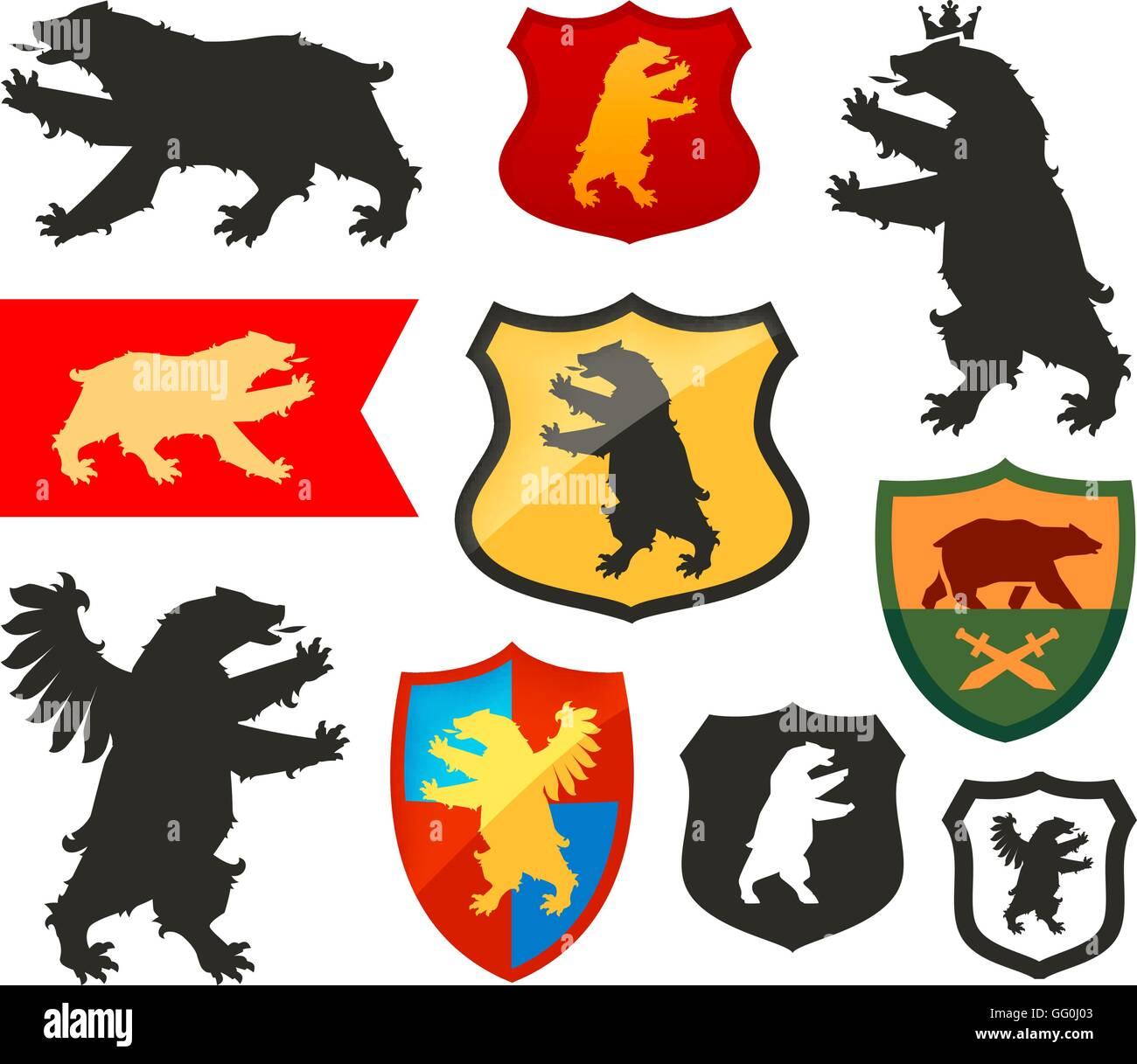 Bear Coat Arms Shield