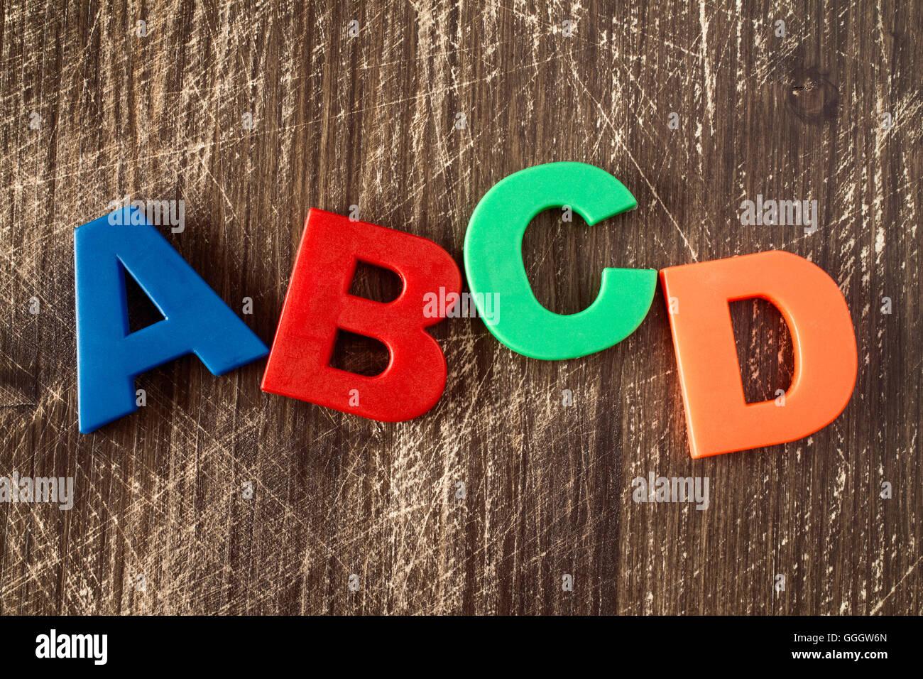 Wooden Block Alphabet Letters D