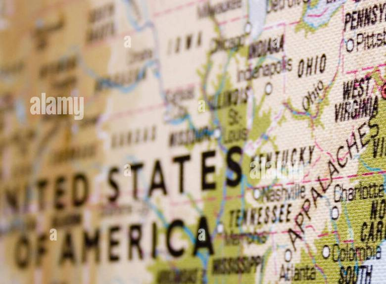 HD Decor Images » East Coast Usa Map Stock Photos   East Coast Usa Map Stock Images     USA map with focus on eastern coast  Landscape orientation    Stock Image