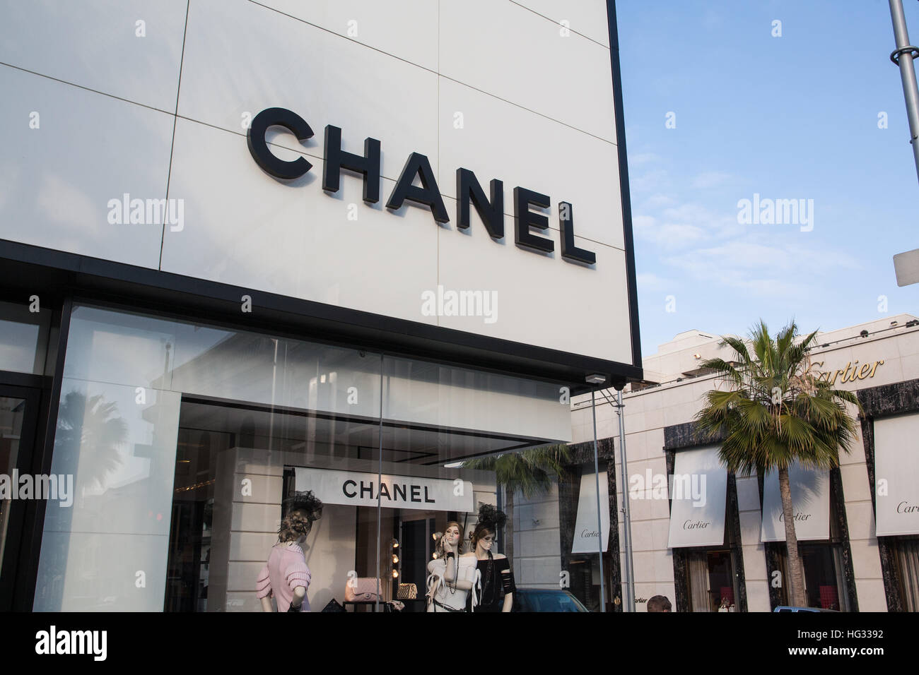 Chanel Store On Rodeo Drive In Beverly Hills Los Stock