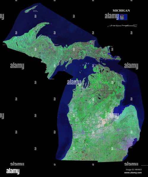 Map Of Michigan State Stock Photos   Map Of Michigan State Stock     Michigan   Stock Image