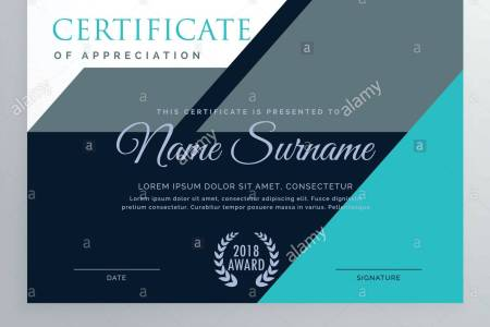 elegant appreciation certificate template design Stock Vector Art     elegant appreciation certificate template design