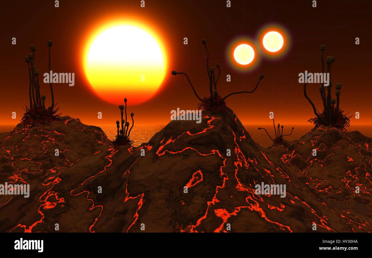 Exoplanet Proxima Centauri B Orbiting The Red Dwarf Star