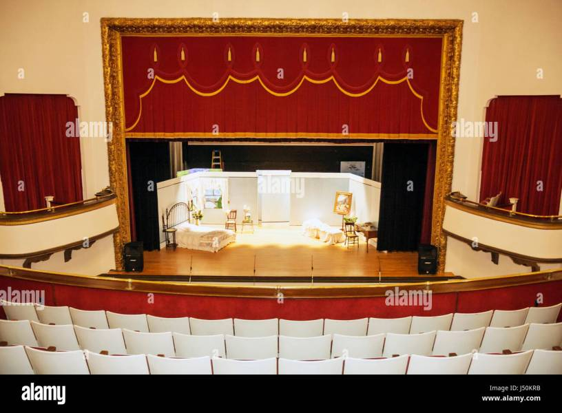Alabama Dothan Dothan Opera House built 1915 interior seating     Alabama Dothan Dothan Opera House built 1915 interior seating balcony stage