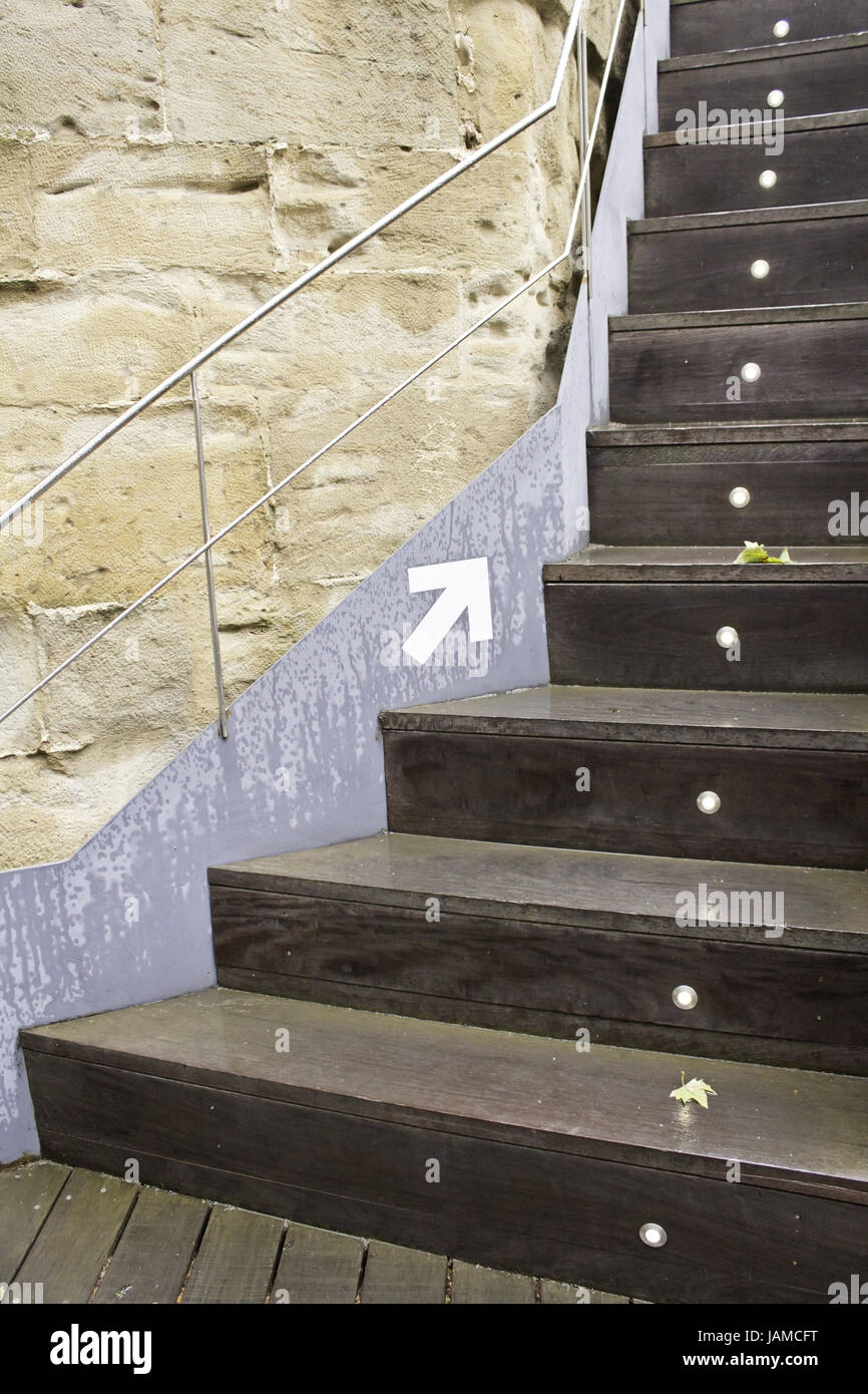 Wooden Stairs With Lights And Arrow Signage Construction And   Wooden Stairs With Lights   Light Gray   Motion Sensor   Side   Glass   Backyard Wood