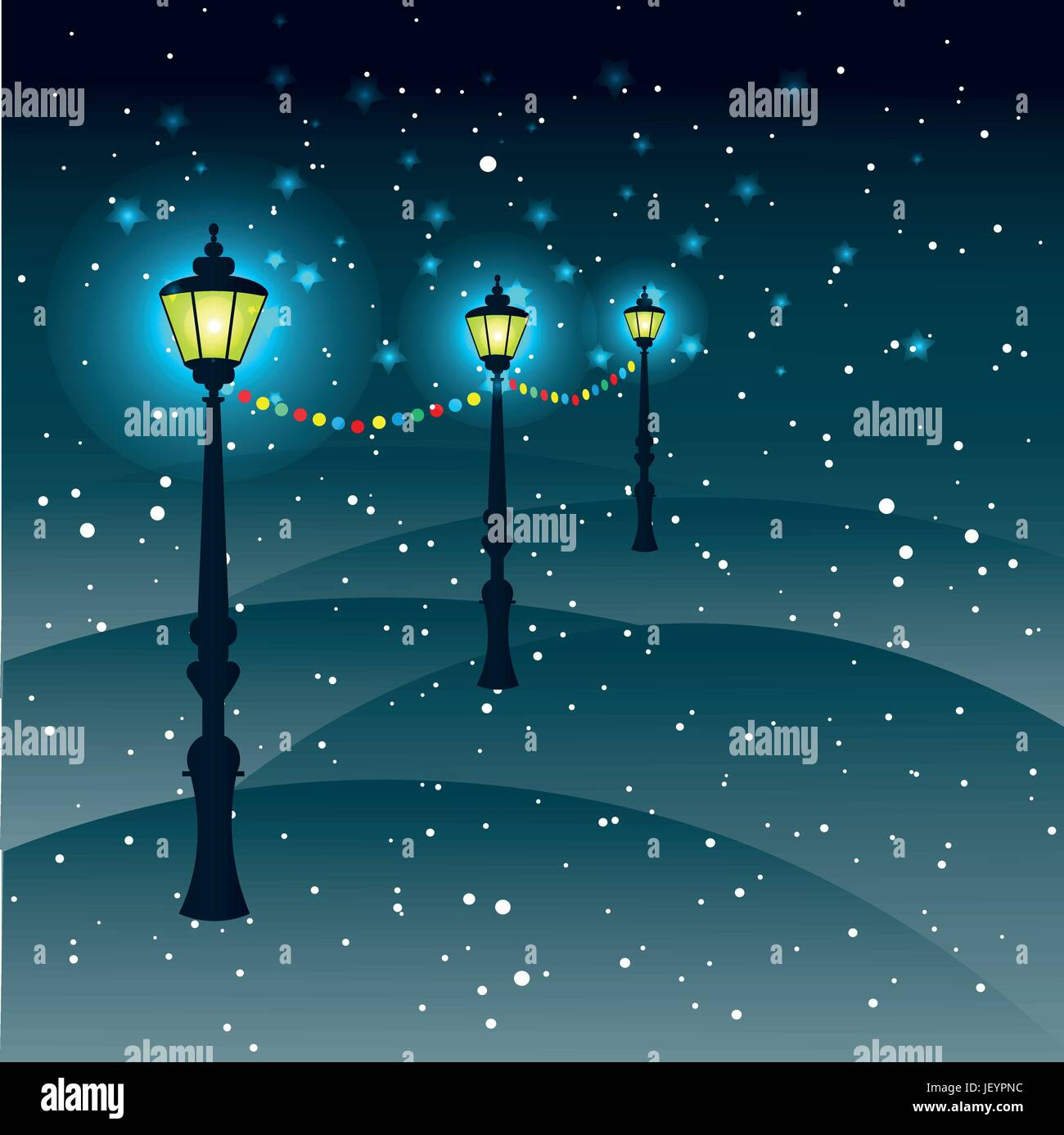 City Street Outdoor Christmas Decorations Snow Flakes