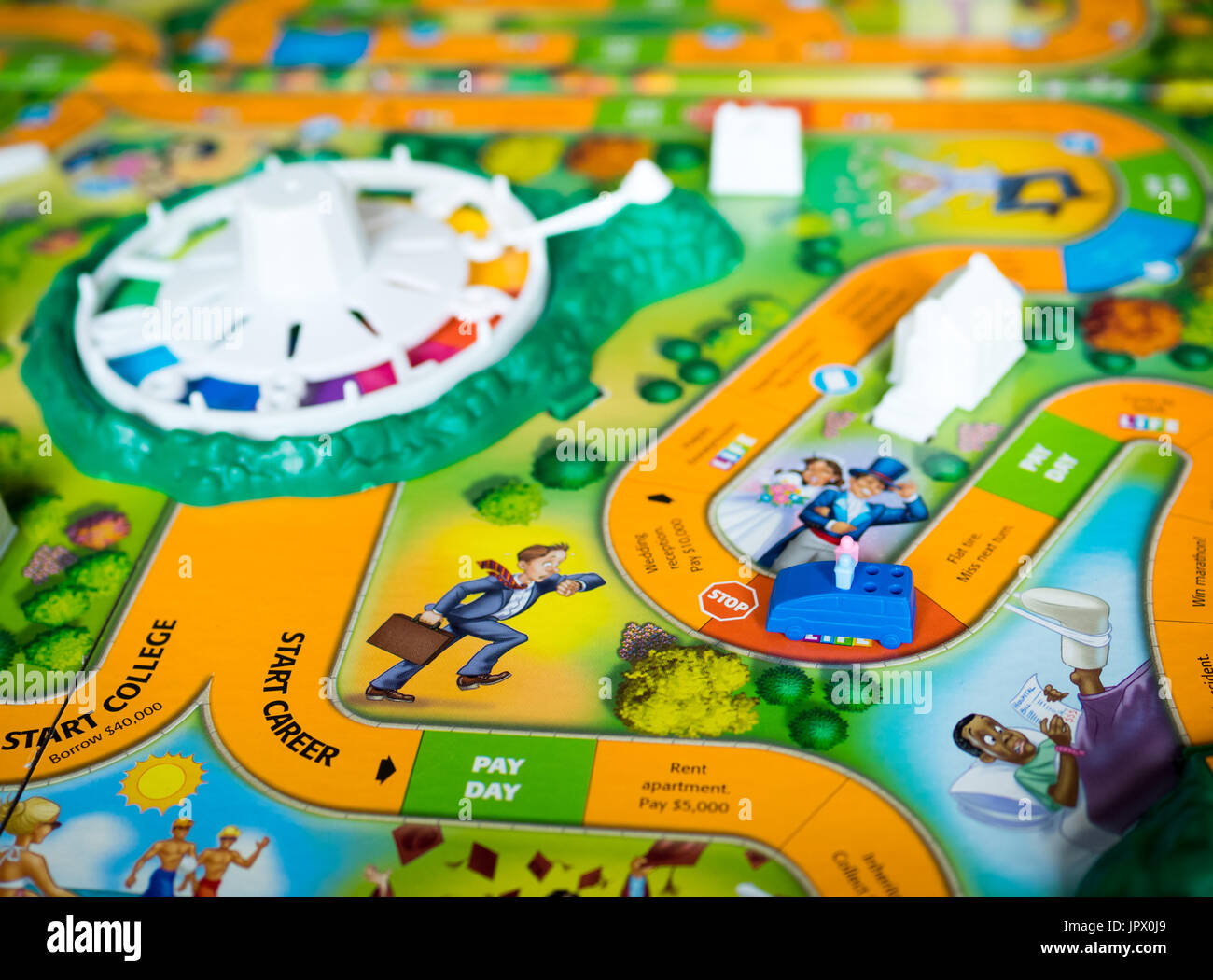 Game Of Life Board Spinning Wheel Stock Photos   Game Of Life Board     A view of The Game of Life  also known as LIFE   a board