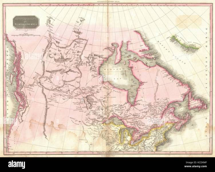 1818  Pinkerton Map of British North America or Canada  John Stock     1818  Pinkerton Map of British North America or Canada  John Pinkerton   1758     1826  Scottish antiquarian  cartographer  UK