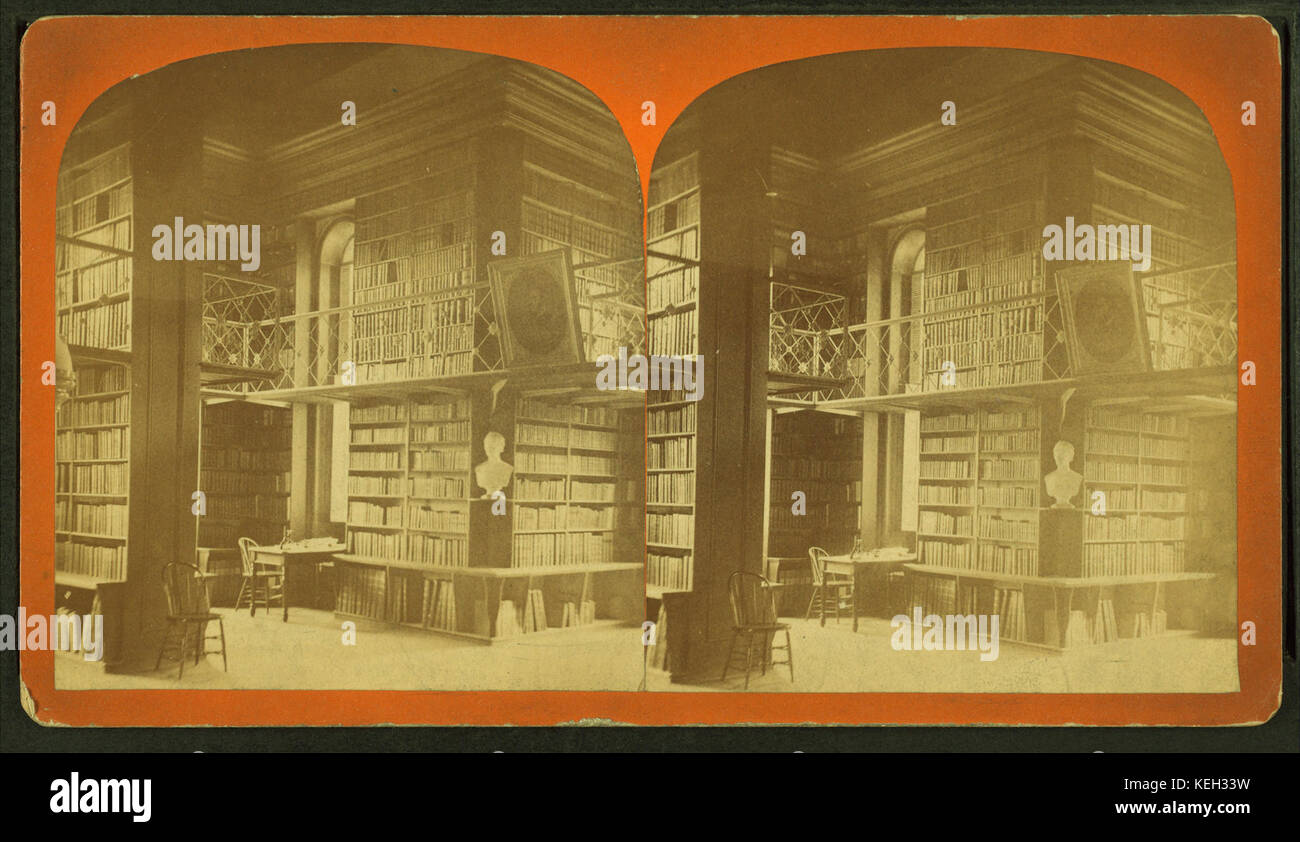 Interior of the library of Colby University  Waterville  Maine  from     Interior of the library of Colby University  Waterville  Maine  from Robert  N  Dennis collection of stereoscopic views