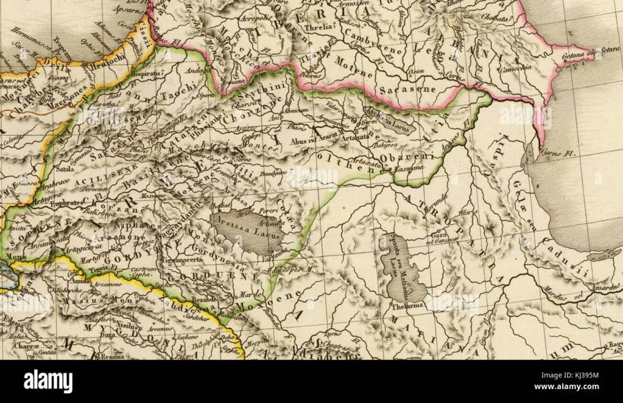 Map of Asia Minor and Armenia  1822 Stock Photo  166030192   Alamy Map of Asia Minor and Armenia  1822