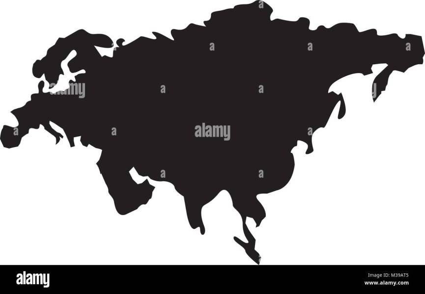 map of asia continent territory silhouette Stock Vector Art     map of asia continent territory silhouette