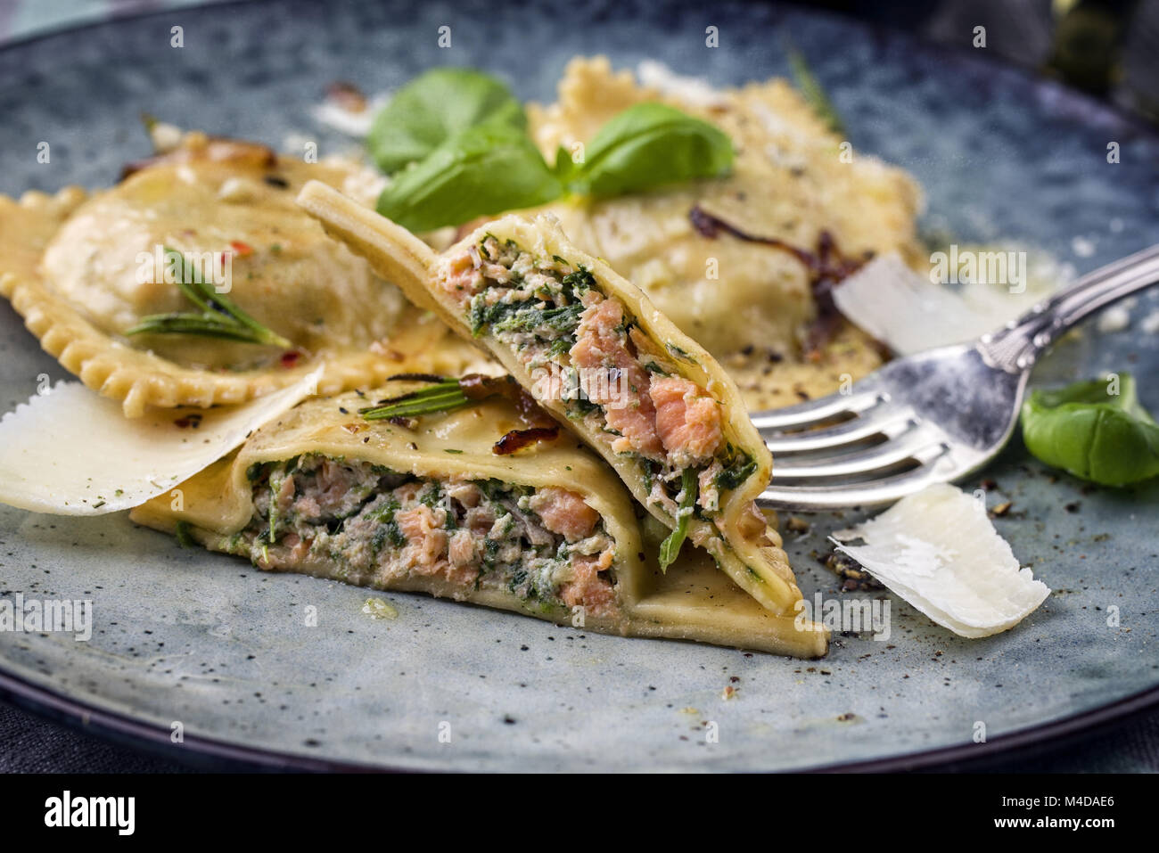 Ravioli Spinach And Salmon