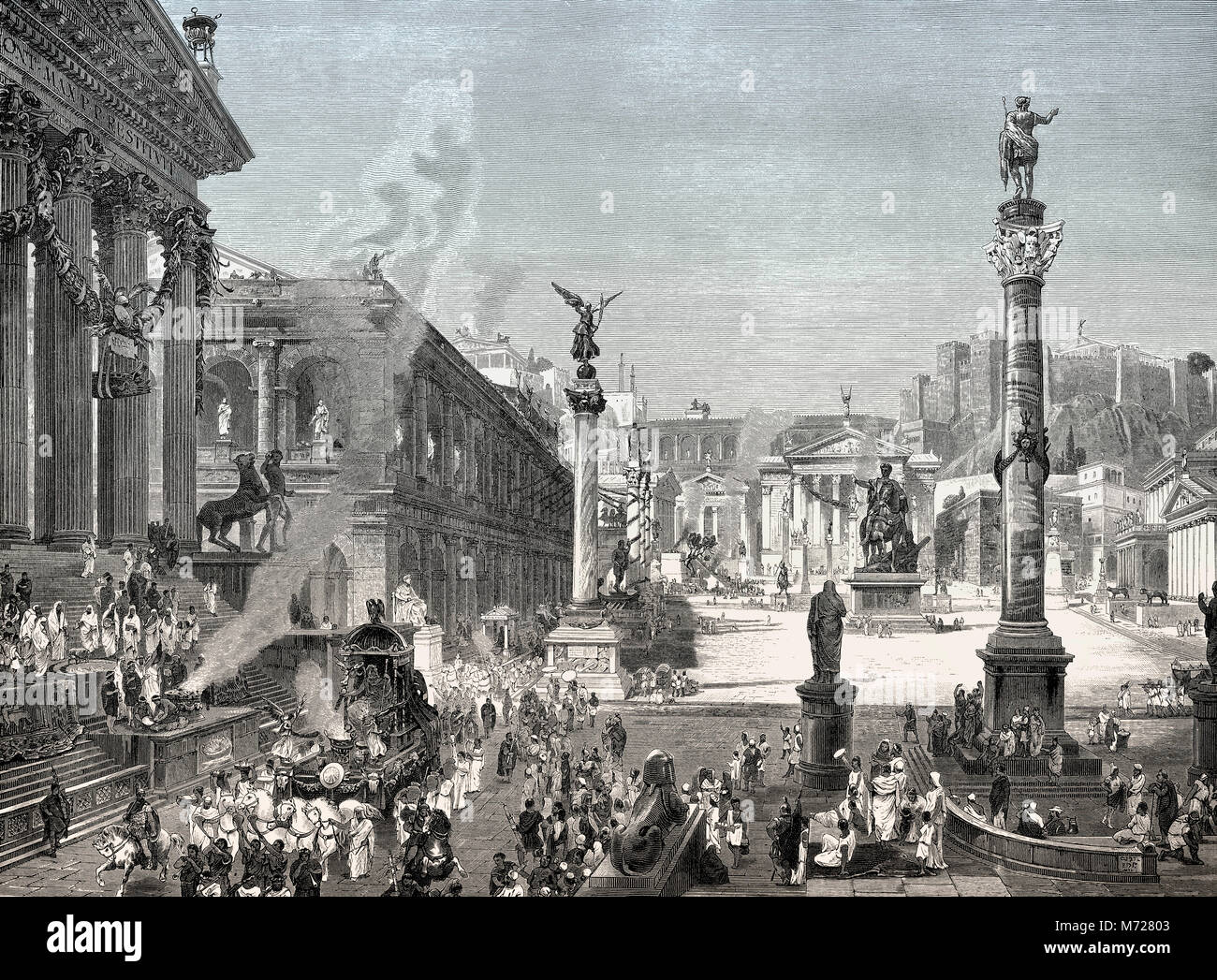 Roman Forum Reconstruction Stock Photos & Roman Forum ...
