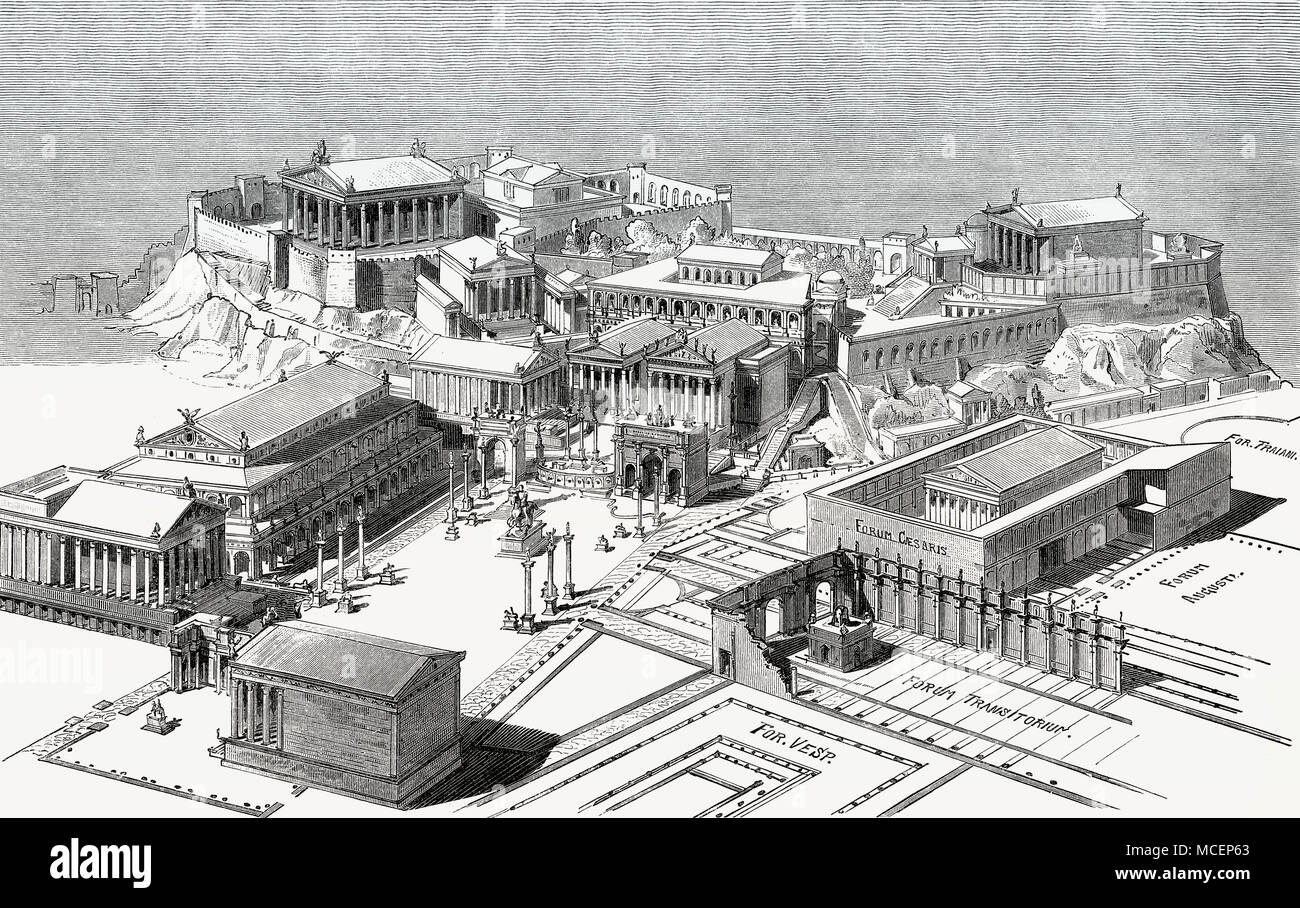 Roman Forum Rome Reconstruction Stock Photos & Roman Forum ...