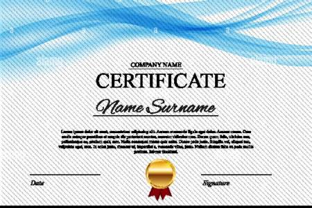 Certificate Template Stock Photos   Certificate Template Stock     Certificate template Background  Award diploma design blank  Vector  Illustration   Stock Image