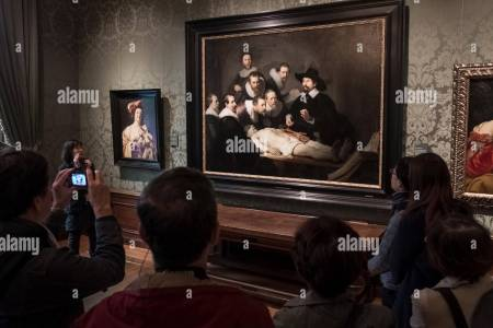Interior Rembrandt Anatomy Lesson Of Dr Tulp 4k Pictures 4k
