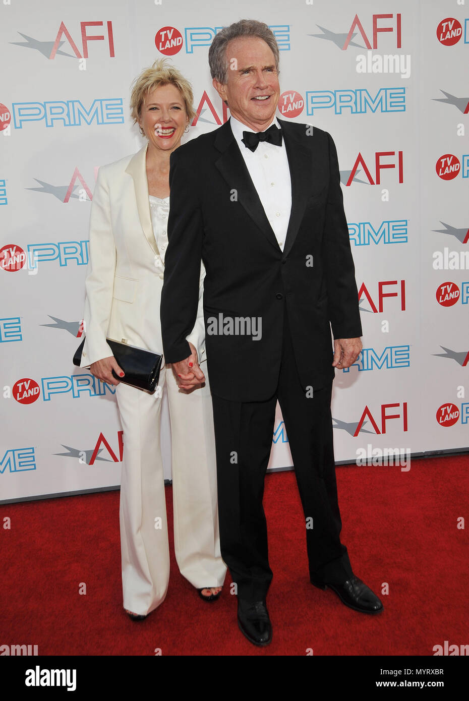 Annette Bening And Family Stock Photos & Annette Bening ...