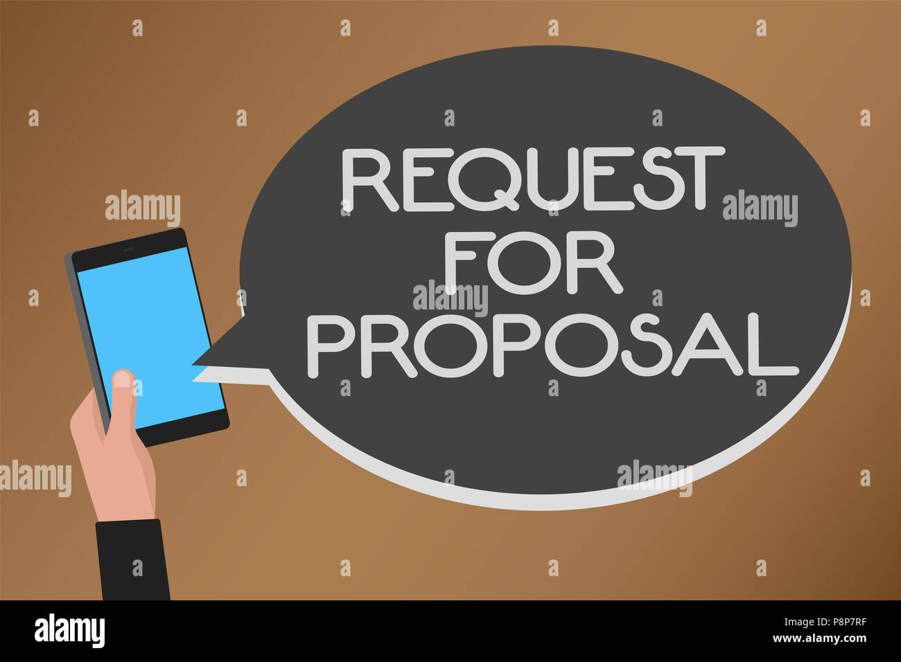 Word writing text Request For Proposal  Business concept for     Word writing text Request For Proposal  Business concept for document  contains bidding process by agency or company Mobile text message messenger  smar
