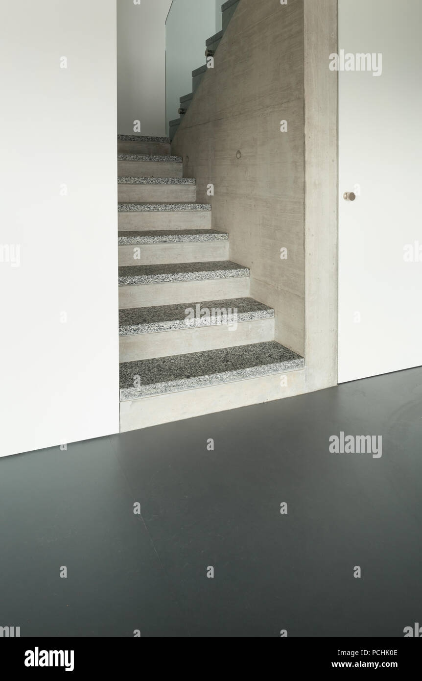 Modern Building Granite Staircase Interior Stock Photo Alamy | Stairs Design With Granite | Exterior | Single Moulding | Granite Skirting | Granite Ramp | Simple