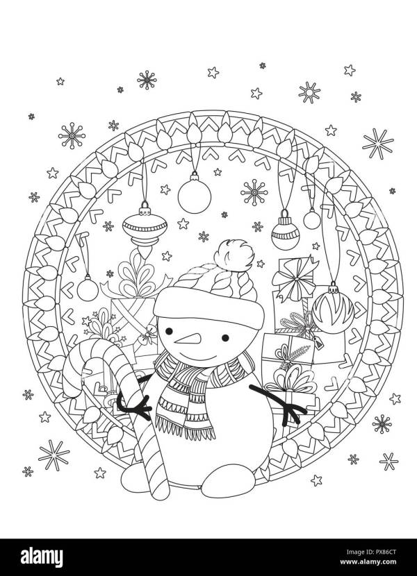 christmas coloring book pages # 19