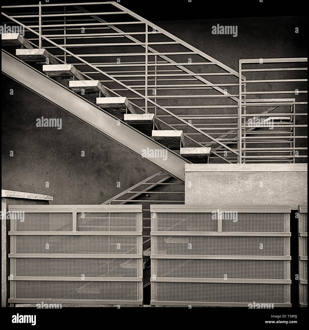 Detail Of A Steel And Concrete Modern Stair Stock Photo Alamy | Steel And Concrete Stairs | Welding | Smooth | Cantilevered | Industrial | Cement
