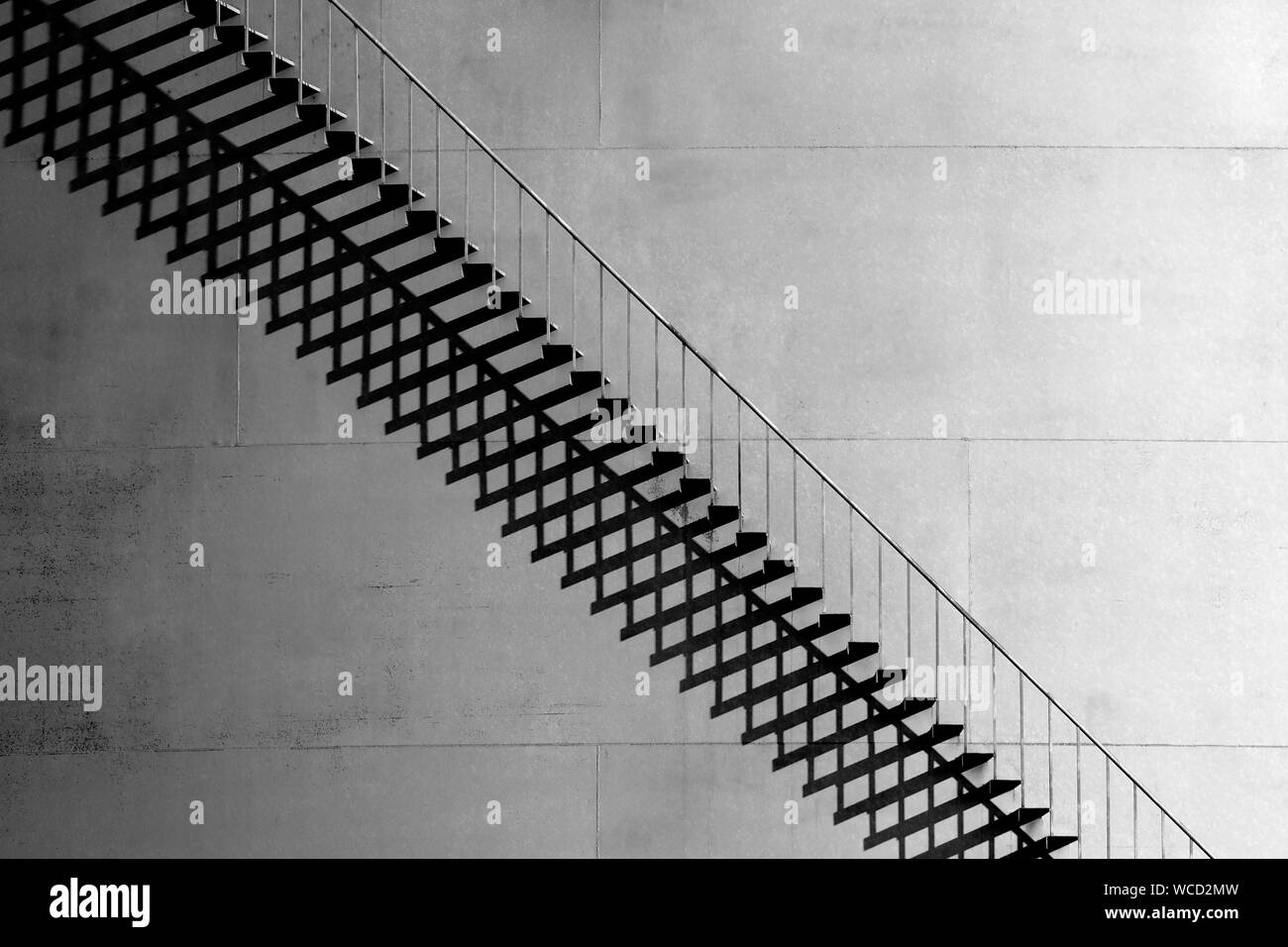 Metal Steps Outside Building Stock Photo Alamy   Metal Steps For Outside   Loading Dock   Covered   Round   Easy   Outdoors