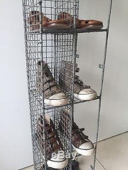 Vintage Pigeon Hole Corner Unit Mesh Wire Bathroom Shoe