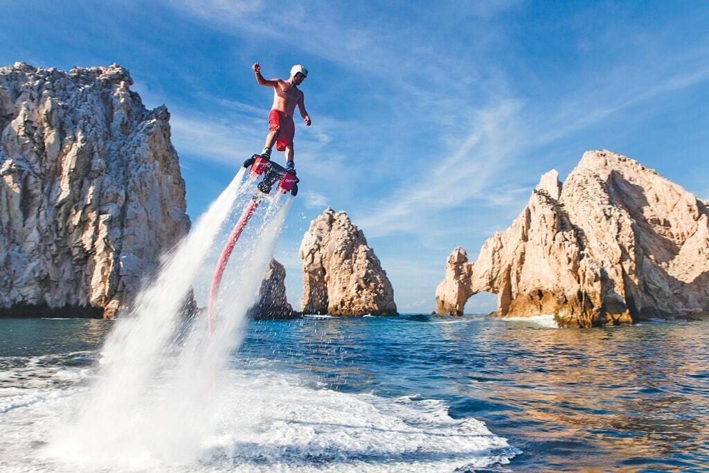 flyboard los cabos is the latest craze and the newest activity to do on the beach of cabo San Lucas, cabo flyboards in Medano beach cabo activities, cabo adventures