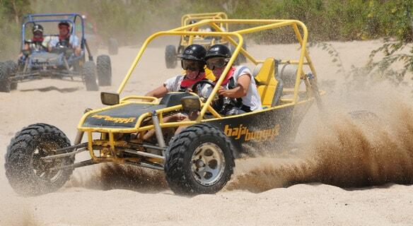 cabo dune buggys race through the turns in los cabos