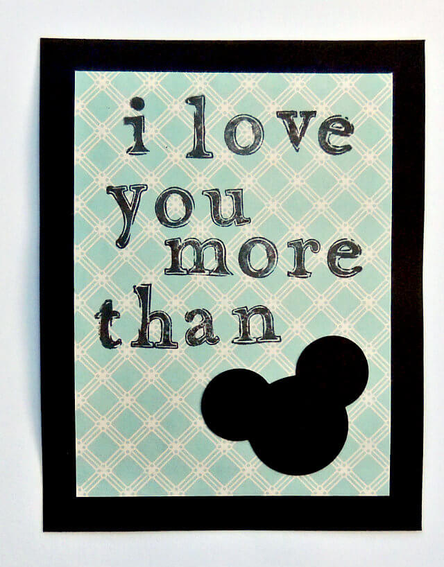 Disney Craft: An Easy DIY Mickey Mouse Valentine's Card