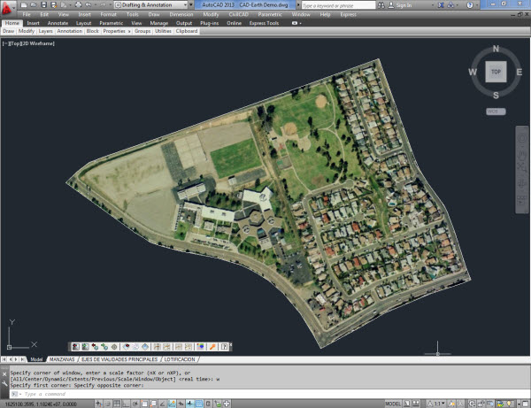 cad earth com Import Google Earth       image to CAD An image showing Google Earth       polygons  and the equivalent objects imported to CAD