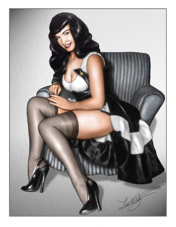 bettie page color # 45