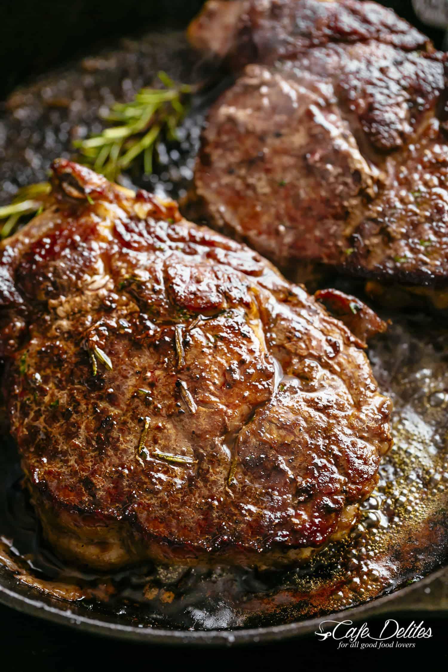 Steak Iron Cast Skillet Rib Eye