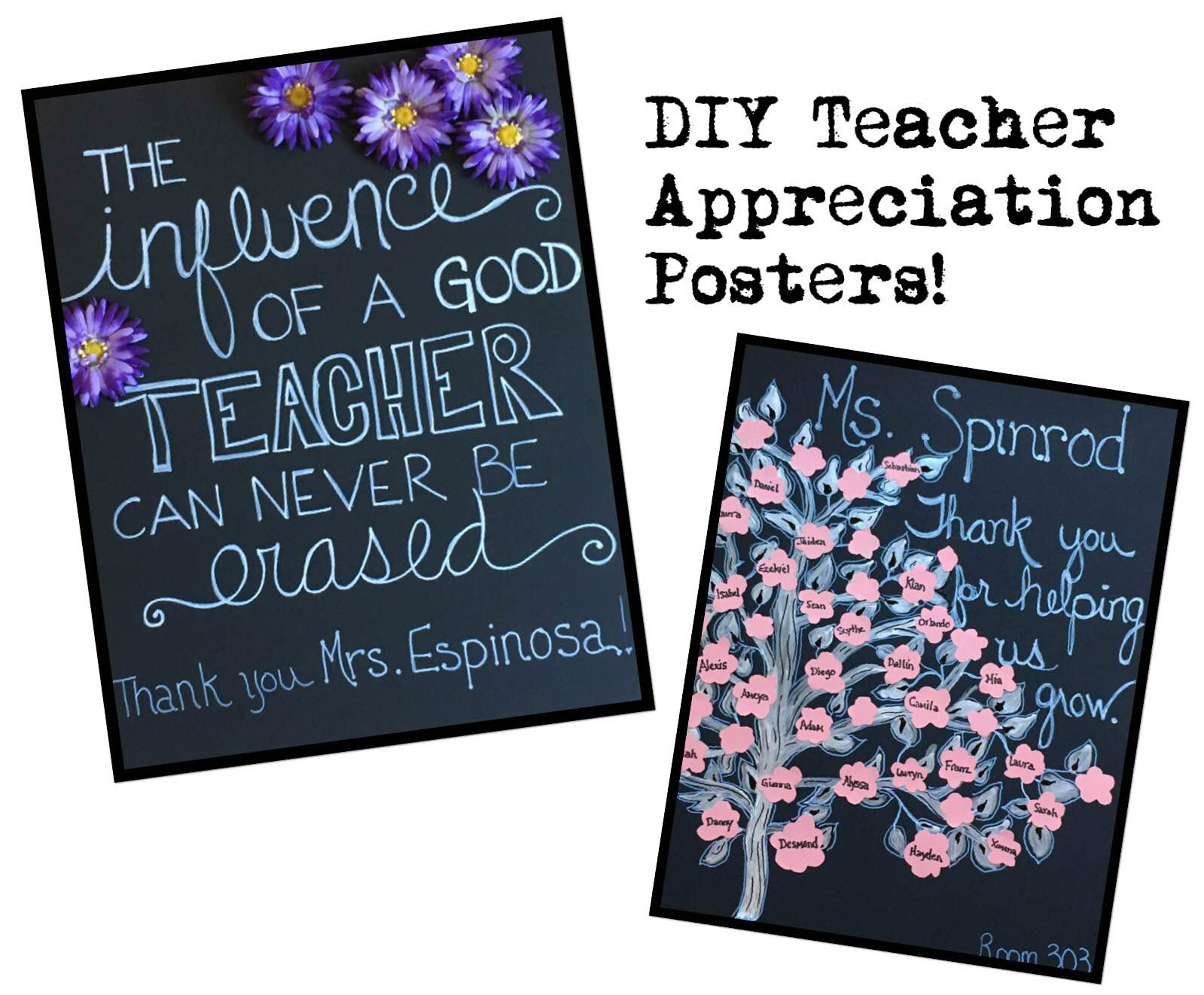 Teacher Appreciation Poster Ideas