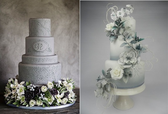 Silver Anniversary Cakes   Cake Geek Magazine silver anniversary cakes by Ana Parsych left and by Cakes by Kim NL right