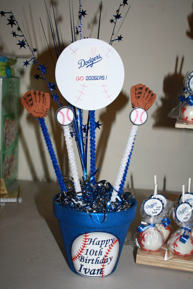 L A Dodgers Theme Goodies Cakepoppinparties