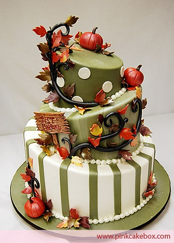 Thanksgiving Cakes  Pictures  Recipe and Video Tutorials   Cakerschool Topsy Turvey Thanksgiving Cake