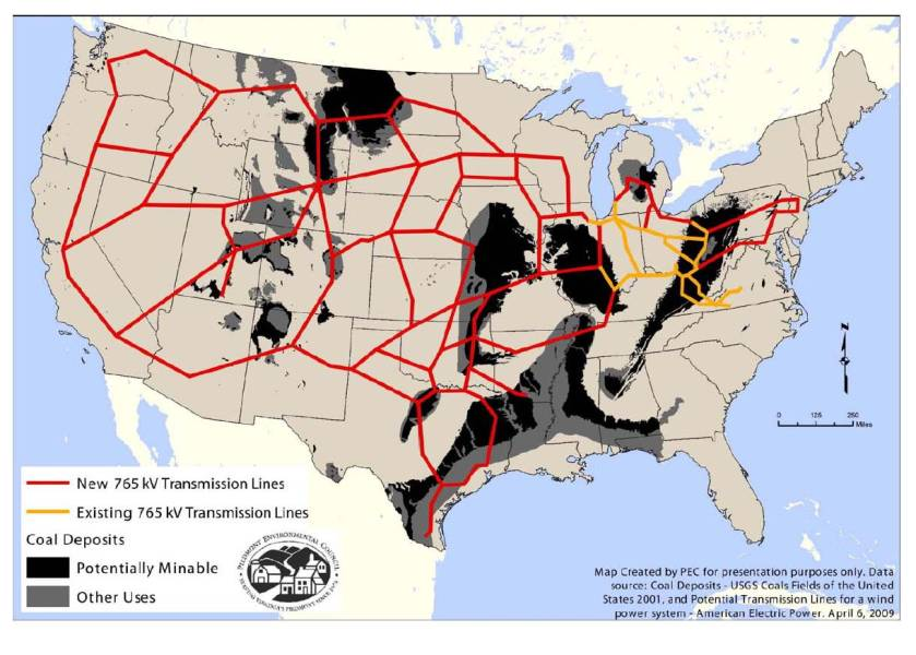 The Map Updated   The Power Line 765 coal map1 1