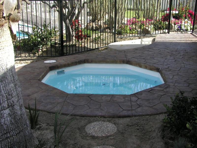 Placid Spillover Spa Amp Hot Tub Viking Fiberglass Pools